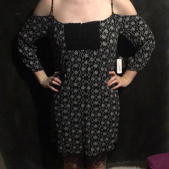Charming Charlie Dresses & Skirts - Black patterned summer dress